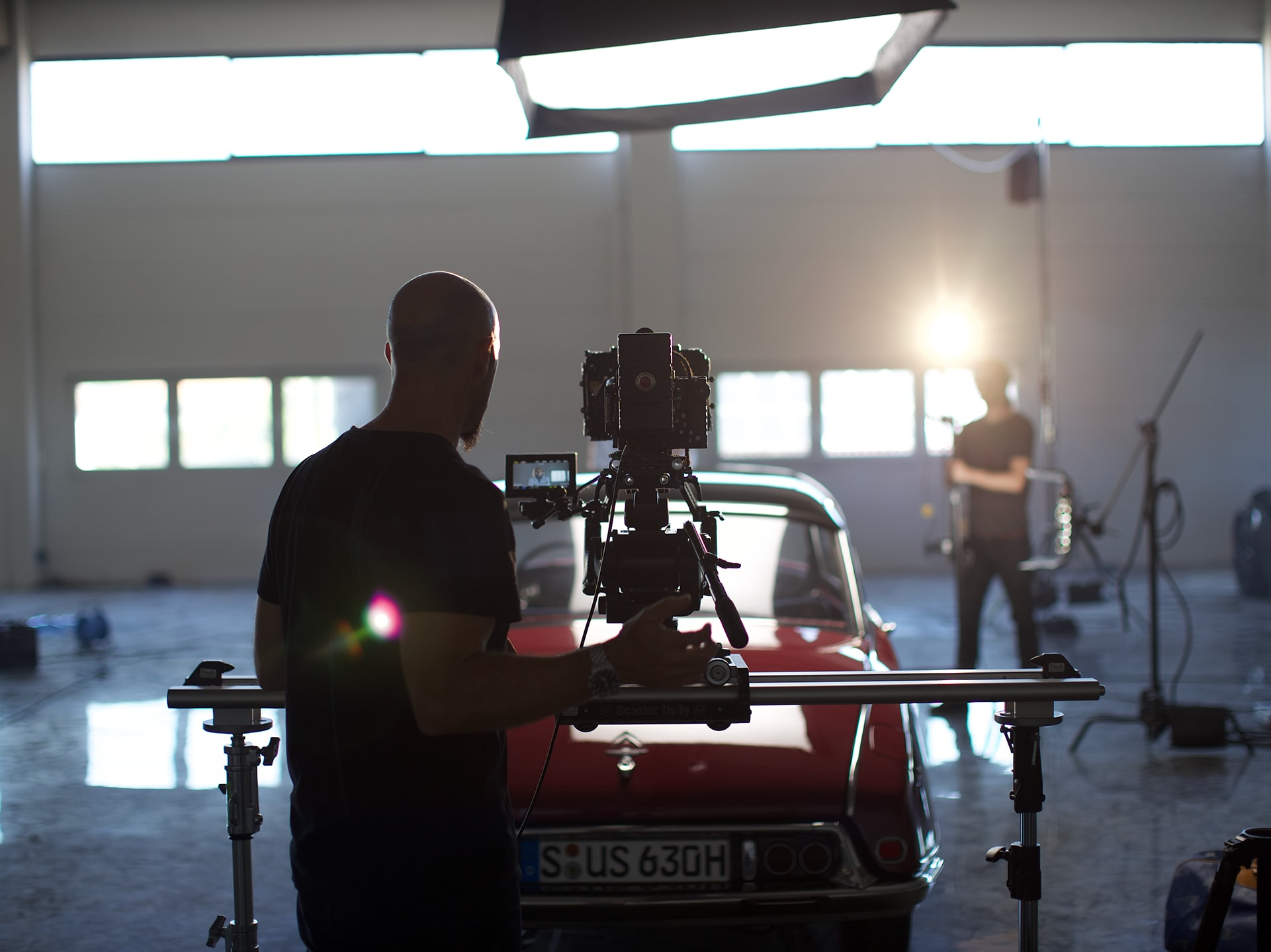 Filmmaker Xaver Walser during the shoot for IWC