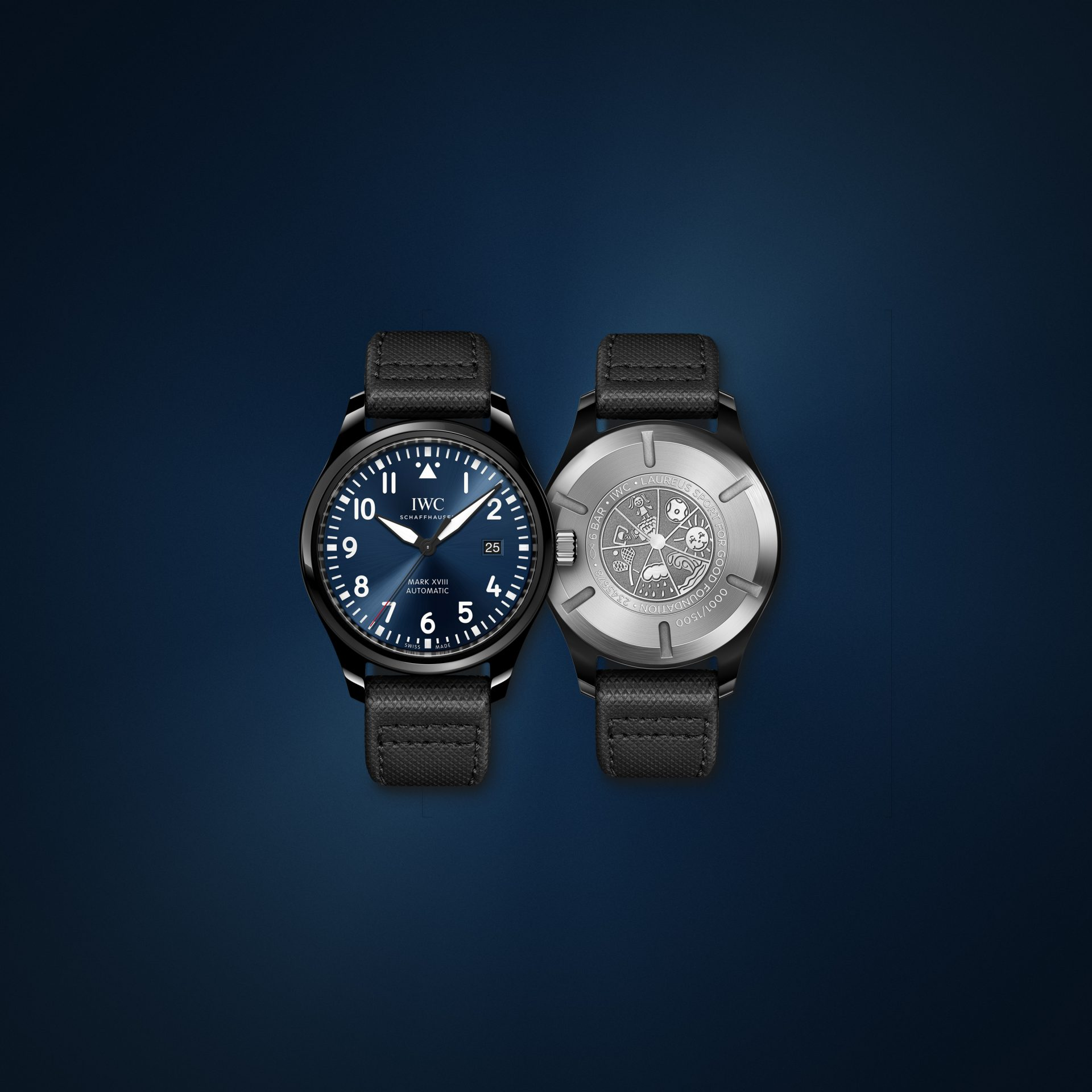 MONTRE D'AVIATEUR MARK XVIII EDITION «LAUREUS SPORT FOR GOOD FOUNDATION»